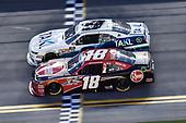 #18: Ryan Preece, Joe Gibbs Racing, Toyota Camry Rheem, #9: Tyler Reddick, JR Motorsports, Chevrolet Camaro Takl