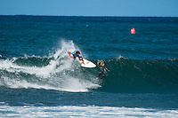 North Shore, Oahu, Hawaii (Sunday, November 24, 2013) &ndash;  HALEIWA, Oahu, Hawaii. Dion Atkinson (AUS).  - It has been five years since Tahiti&rsquo;s Michel Bourez scored the first major victory of his career here at the REEF Hawaiian Pro, and today he backed it up with by winning the 2013 event.  Despite unusually small surf for Hawaii at this time of year, Bourez has put on an amazing performance though out the event and capped it off with the win today defeating local hero Fred Patacchia (HAW) in 2nd, Jeremy Flores (FRA) in 3rd and Dion Atkinson (AUS) in 4th. Bourez now takes the lead in the Triple Crown of Surfing. <br /> The Reef Hawaiian Pro was the first of three events of the Vans Triple Crown of Surfing The REEF Hawaiian Pro is Event #1 in the running of the 31st Annual VANS TRIPLE CROWN OF SURFING   where 128 of the world's best surfers competed for critical ASP Prime points and a share of $250,000 prize money. Bourez took home $40,000 and an early lead on the 2013 Vans Triple Crown series ratings.  Photo: joliphotos.com