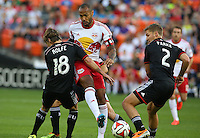 WASHINGTON, D.C - April 12 2014: D.C. United vs the New York Red Bulls in an MLS match at RFK Stadium, in Washington D.C. United won 1-0.