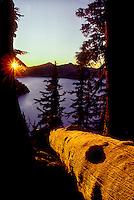 M00125.tif   Sunset at Crater Lake National park, Oregon