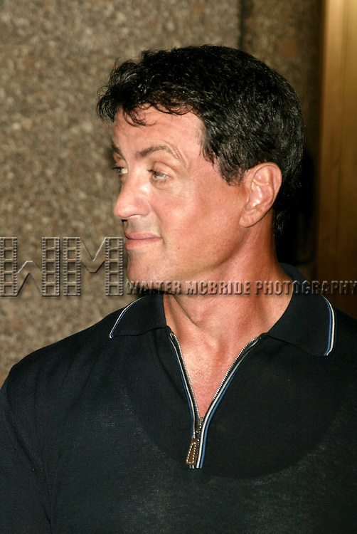 Sylvester Stallone ( The Contender )<br /> Attending the NBC Network 2004-2005 Upfront announcements at Radio City Music Hall in New York City.<br /> May 17, 2004