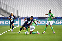 24th July 2020, Stade de France, Paris, France; French football Cup Final, Paris Saint Germain versus  St Ertienne;  07 KYLIAN MBAPPE (PSG) is challenged