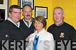 CHEQUE: Pauline Lyne, Killarney, who won 1,000 in the Dr Crokes monthly draw, received her cheque from Dr Crokes officials in the clubhouse on Friday night, 2nd March. L-r: Patrick OSullivan, Der Brosnan, Pauline Lyne and John Linehan.
