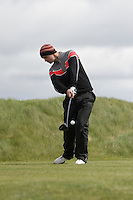 Conor O'Rourke (Naas) on the 14th tee during Round 3 of The Irish Amateur Open Championship in The Royal Dublin Golf Club on Saturday 10th May 2014.<br /> Picture:  Thos Caffrey / www.golffile.ie