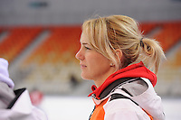 SPEEDSKATING: SOCHI: Adler Arena, 19-03-2013, Training, Marianne Timmer (trainer/coach Team LIGA), © Martin de Jong