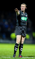 Referee Robert Hicks<br /> <br /> Photographer Alex Dodd/CameraSport<br /> <br /> Betfred Super League Round 5 - Leeds Rhinos v Hull FC - Thursday 8th March 2018 - Headingley Carnegie Stadium - Leeds<br /> <br /> World Copyright &copy; 2018 CameraSport. All rights reserved. 43 Linden Ave. Countesthorpe. Leicester. England. LE8 5PG - Tel: +44 (0) 116 277 4147 - admin@camerasport.com - www.camerasport.com