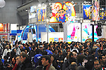 Tokyo, Japan - March 24: More than 30,000 visitors showed up at Tokyo International Anime Fair at Tokyo Big Sight, Koto, Tokyo, Japan on March 24, 2012. The fair was the largest animation exhibition in the world, and 216 companies had their booths to show their products.