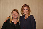 Wendy Madore with Guiding Light's Liz Keifer as she hosts Bloss Brunch on October 8, 2017 - a part of the Guiding Light Daytime Stars and Strikes for Autism weekend at the Residence Inn, Secaucus, New Jersey. (Photo by Sue Coflin/Max Photo)