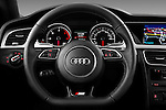 Steering wheel view of a 2012 Audi A5 S Line Coupe