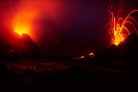 West pit gap area on west side of Pu'u o'o vent 11-01-03 Spatter cones, Hawaii Volcanoes National Park, Big Island, Hawaii, USA