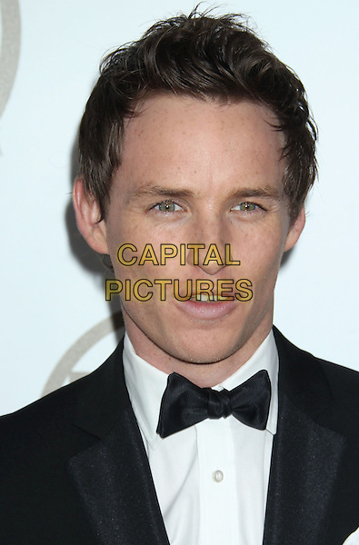 Eddie Redmayne.At the 24th Annual Producers Guild Awards held at the Beverly Hilton Hotel, Beverly Hills, California, USA,.26th January 2013..PGAs PGA arrivals headshot portrait black bow tie white shirt tuxedo   .CAP/ADM/RE.©Russ Elliot/AdMedia/Capital Pictures.