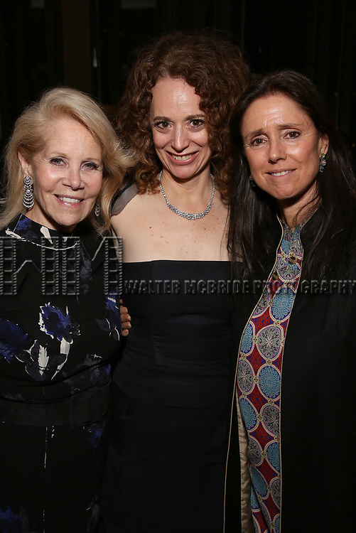 Daryl Roth, Rebecca Taichman and Julie Taymor attends the Broadway Opening Night After Party for  'Indecent' at Bryant Park Grill on April 18, 2017 in New York City.