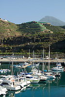 Spain, Canary Islands, La Palma, Puerto de Tazacorte: yacht harbour