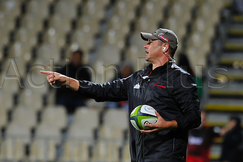 15.04.2016. Christchurch, New Zealand.  Tabai Matson Assistant coach of the Crusaders during the Super Rugby Match, Crusaders V Jaguares, AMI Stadium, Christchurch, New Zealand. 15th April 2016.