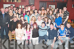 KEY TO THE DOOR: Marian Manson of Ardfert (seated 3rd from left) had great fun when family and friends gathered to celebrate her 21ST birthday at Justin's bar in Ardfert last Saturday night.   Copyright Kerry's Eye 2008