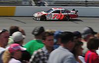 May 2, 2008; Richmond, VA, USA; NASCAR Sprint Cup Series driver Joe Nemechek during practice for the Dan Lowry 400 at the Richmond International Raceway. Mandatory Credit: Mark J. Rebilas-