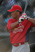John Rodriguez of the St. Louis Cardinals vs. the Atlanta Braves March 16th, 2007 at Champion Stadium in Orlando, FL during Spring Training action.  Photo copyright Mike Janes Photography 2007.