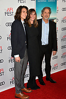 "LOS ANGELES, CA. November 09, 2018: Peter Farrelly, Melinda Kocsis & Son at the AFI Fest 2018 world premiere of ""Green Book"" at the TCL Chinese Theatre.<br /> Picture: Paul Smith/Featureflash"