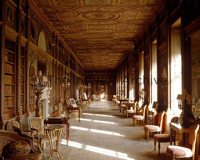 The Long Gallery at Syon House was converted by Robert Adam into a library-cum-sitting room