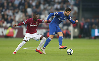Everton's Andre Gomes and West Ham United's Pedro Obiang<br /> <br /> Photographer Rob Newell/CameraSport<br /> <br /> The Premier League - West Ham United v Everton - Saturday 30th March 2019 - London Stadium - London<br /> <br /> World Copyright © 2019 CameraSport. All rights reserved. 43 Linden Ave. Countesthorpe. Leicester. England. LE8 5PG - Tel: +44 (0) 116 277 4147 - admin@camerasport.com - www.camerasport.com