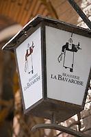 Afrique/Afrique du Nord/Maroc /Casablanca: enseigne du restaurant La Bavaroise rue Allal Ben Abdallah