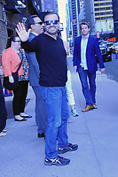 www.acepixs.com<br />  May 18, 2017 New York City<br /> <br /> Ricky Gervais leaving an appearance on 'The Late Show with Stephen Colbert' on May 18, 2017 in New York City.<br /> <br /> Credit: Kristin Callahan/ACE Pictures<br /> <br /> Tel: (646) 769 0430<br /> e-mail: info@acepixs.com