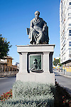 Statue of Manuel Agustin Heredia in Malaga city centre, Spain