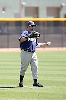 Jaff Decker, San Diego Padres 2010 minor league spring training..Photo by:  Bill Mitchell/Four Seam Images.