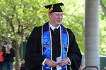 Tim Hoover, WNC Associated Students president walks to the podium during the 2015 Western Nevada College Commencement held at the Pony Express Pavilion in Carson City, Nev., on Monday, May 18, 2015.<br /> Photo by Tim Dunn