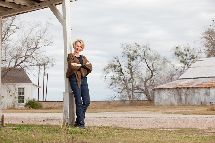 Portrait of Cally Fromme, president of Zarsky lumber company in Victoria, Texas.