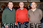 The Freeman brothers Derek, Liam and Harry at the Tralee Bay Sailing Club's Clubhouse in Fenit on Tuesday, as Liam received the Samphire Award for his outstanding contribution to the development of the Tralee Bay Sailing Club on Tuesday