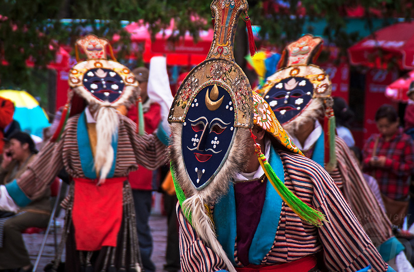 Buddhist teachings and local history are the sources of Tibetan Opera's inspiration, so most of its repertoire is based on them. The traditional drama is a combination of dances, chants, songs, and masks. The highlight of Lhamo is its mask.<br />