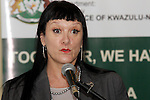 DURBAN - 19 April 2016 - Belinda Scott, the KwaZulu-Natal finance MEC speaks at the launch of a training programme to have accountants do their articles in the KwaZulu-Natal provincial treasury. Picture: Allied Picture Press/APP