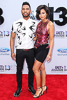 LOS ANGELES, CA - JUNE 30: Miguel and Nazanin Mandi attend the 2013 BET Awards at Nokia Theatre L.A. Live on June 30, 2013 in Los Angeles, California. (Photo by Celebrity Monitor)