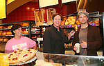 "Guiding Light's Frank Dicopoulos ""Frank Cooper"" and Daniel Cosgrove ""Billy Lewis"" showing off the Pink Ribbon Bagel as they donated their time for Young Women's Breast Cancer Awareness Foundation by going to Pittsburgh, PA on October 7, 2008 and went Pink with Panera. They visited three of 27 Panera Bread locations during the day where 100% of sales from their Pink Ribbon bagels went to the foundation and a portion of those sales all during the month of October. For more information go to www.breastcancerbenefit.org. The day started out with Star 100.7 and the hosts Kate and JR interviewed Frank Dicopoulos. The two actors then went to the CBS studio in Pittsburgh in the morning. The day was a great hit. (Photo by Sue Coflin/Max Photos)"