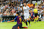Jose Luis Gaya of Valencia CF (R) talks to Luis Suarez of FC Barcelona (L) during their La Liga 2018-19 match between Valencia CF and FC Barcelona at Estadio de Mestalla on October 07 2018 in Valencia, Spain. Photo by Maria Jose Segovia Carmona / Power Sport Images