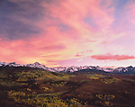 Sneffels Range at sunset in autumn, Telluride, Colorado,USA. John offers autumn photo tours throughout Colorado.