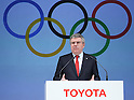 Thomas Bach, MARCH 13, 2015 - Signing ceremony for making Toyota an official top-ranked Olympic sponsorship in Tokyo, Japan. (Photo by Motoo Naka/AFLO)