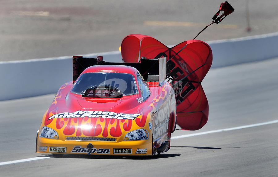 Apr. 13, 2008; Las Vegas, NV, USA: NHRA funny car driver Cruz Pedregon during the SummitRacing.com Nationals at The Strip in Las Vegas. Mandatory Credit: Mark J. Rebilas-