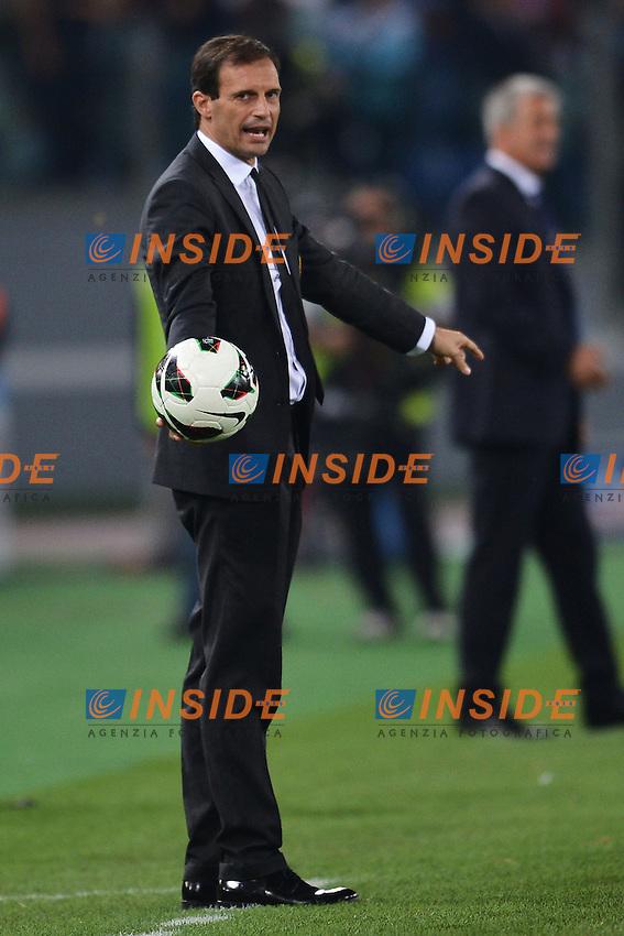 """Massimiliano Allegri allenatore del Milan.Roma 20/10/2012 Stadio """"Olimpico"""".Football Calcio 2012/2013 Serie A.Lazio Vs Milan.Foto Andrea Staccioli Insidefoto"""