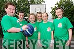 Friends having fun at the inaugural Gneeveguilla Basketball Camp last week. .L-R Tadhg O'Connor, Danny O'Callaghan, Chloe Fitzgerald, Jack Brosnan, Emily O'Riordan and Patrick Brosnan.