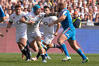 "Jack Nowell England, Leonardo Ghilardini Italy.<br /> Roma 15-03-2014, Stadio Olimpico. Sei Nazioni di Rugby - Italia vs Inghilterra / Rugby Six Nations - Italy vs England - Foto ""Antonietta Baldassarre"" Insidefoto"