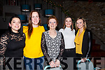Brenda Leahy, Christina O'Carroll, Noreen Leahy, Janet Leahy and Stephanie Leahy, enjoying the Womens Little Christmas celebrations in No 4 The Square Restaurant on Saturday night last.