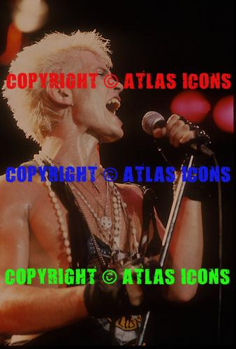 BILLY IDOL, LIVE, 1984, NEIL ZLOZOWER