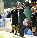 12/09/2009  Copyright  Pic : James Stewart.sct_jspa21_motherwell_v_rangers  .MOTHERWELL MANAGER JIM GANNON DURING THE GAME AGAINST RANGERS.James Stewart Photography 19 Carronlea Drive, Falkirk. FK2 8DN      Vat Reg No. 607 6932 25.Telephone      : +44 (0)1324 570291 .Mobile              : +44 (0)7721 416997.E-mail  :  jim@jspa.co.uk.If you require further information then contact Jim Stewart on any of the numbers above.........
