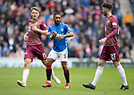 Rangers v St Johnstone&hellip;16.02.19&hellip;   Ibrox    SPFL<br />Jermaine Defoe is closely watched by Jason Kerr and Sean Goss<br />Picture by Graeme Hart. <br />Copyright Perthshire Picture Agency<br />Tel: 01738 623350  Mobile: 07990 594431