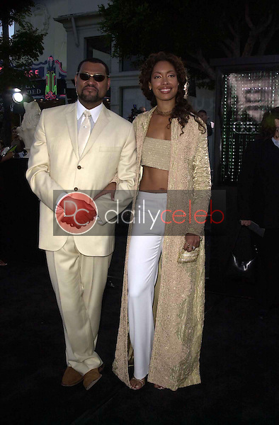 Laurence Fishburne and wife Gina Torres