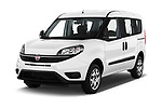 2018 Fiat Doblo Street 5 Door MPV angular front stock photos of front three quarter view