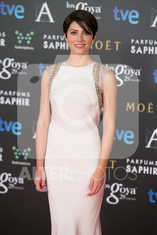 Barbara Lennie attend the 2015 Goya Awards at Auditorium Hotel, Madrid,  Spain. February 07, 2015.(ALTERPHOTOS/)Carlos Dafonte)
