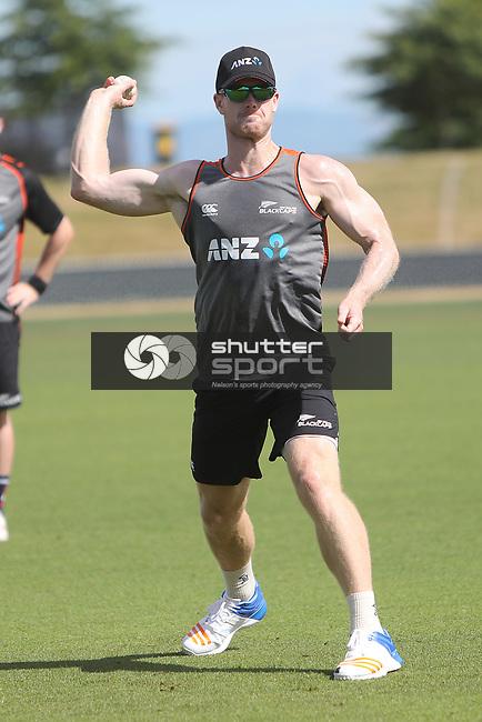 NELSON, NEW ZEALAND - January 7: Black Caps Training on January 7 2019 in Nelson, New Zealand. (Photo by: Evan Barnes Shuttersport Limited)